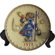 "Hummel Plate ""Hear Ye"" 1972 Second Annual Boy with Horn"