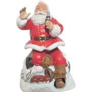SALE Melody in Motion Seated Christmas Santa with Coca Cola and Train