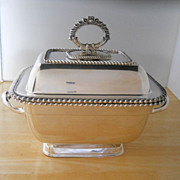 Handsome English Old Sheffield Plate Sauce Tureen, early 19th C.