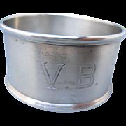 Sterling Webster & Co. Napkin Ring, Engraved