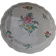 Lovely Luneville Old Strasbourg Rose Charger/Platter