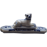 SOLD Beautiful porcelain dog paperweight, c. 1811 - Red Tag Sale Item