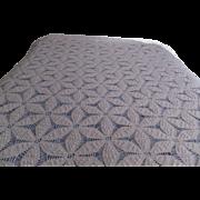 Splendid white or light cream colored crochet double bedspread