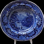 Staffordshire Dark Blue W. Adams Soup, c. early 19th C.