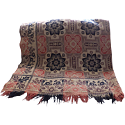 Outstanding Indiana Muir Coverlet, c. 1858