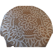 Lovely Round Battenberg Doily or Cloth