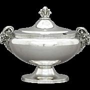 Gorham Silverplate Tureen Rams Head Handles & Finial c. 1880