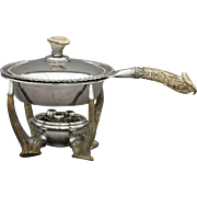Gorham Stag & Silverplate Chafing Dish c. 1900