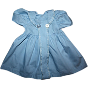 Blue Dress for Large Baby and Toddler Dolls 1950s