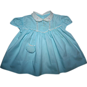 SOLD Aqua Blue Baby Dress for Small Playpals 1940s