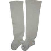SOLD Antique Cotton Baby Socks