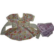Pastel Voile and Organdy Dress for Composition Dolls 1930s