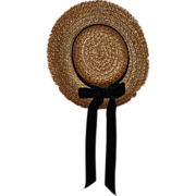 SOLD Straw Hat for Dolls 1940s