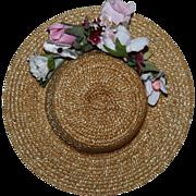 SOLD Vintage Straw Doll Hat 1950s
