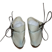 SOLD White Ankle Boots for Bleuette or Tiny Dolls - Fits Effanbee Patsyette