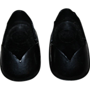 SOLD Black Molded Ideal Shirley Temple Doll Shoes