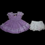 SOLD Lavender Dress for Hard Plastic Doll 1950s