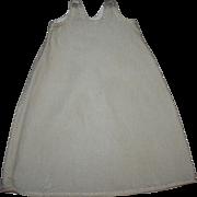 Lovely Almond Antique Doll Slip Late 1800's
