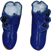 SOLD Beautiful Blue Reproduction Jumeau Shoes for French Bébé Doll