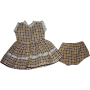 Dress with Matching Underwear for Hard Plastic Dolls 1950s
