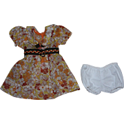 Floral Voile Print Dress and Underwear Hard Plastic and Composition Dolls 1940