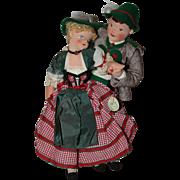SOLD Lovely Garmisch Cloth Dolls 1950s