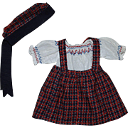 Three Piece Outfit for Composition Dolls 1930s