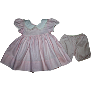 Pink Pique Dress for Large Baby Dolls 1950s