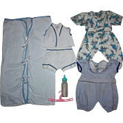 Layette items for Dy-Dee Baby Doll and Friends 1950s
