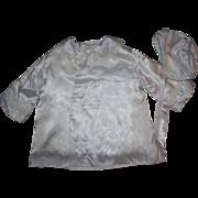 Satin Coat and Bonnet for Large Dolls 1950s