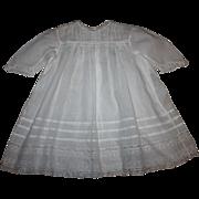 Antique White Lawn Baby Dress