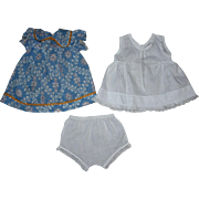 Dimity Dress, Whole Slip and Underwear, 1930s