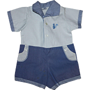Two Piece Romper Set for Toddler Dolls 1950s
