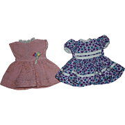 Two Dresses for 12 inch Ideal Shirley Temple 1950s
