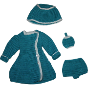 Four Piece Knit Mary Hoyer Doll Outfit 1950s