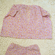 Two Piece 1930s Lavendar Polka Dot Outfit for Large Mama Dolls