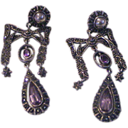 Lovely Vintage Bow Sterling Silver Earrings