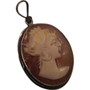 Unusual Vintage Cameo: Lady with a crown