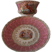 Outstanding Cup and Saucer Set; Figural