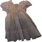 "Lace and Net Dress for 17 to 18"" doll"