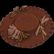 Small Antique Stiffened Felt Hat