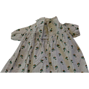 Early Antique White print dress