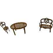 3 Pcs Metal Doll House Furniture