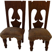 Pair of Very Old Doll House Chairs