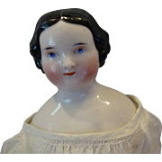 Beautiful Flat-top China Head doll 13""