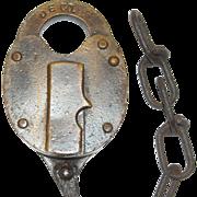 REDUCED Detroit Edison Railroad Brass Lock