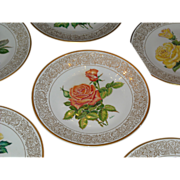 The Edward Marshall Boehm Rose Plate Collection