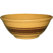 Yelloware Brown Banded Bowl