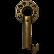 Chicago Milwaukee St. Paul Railroad Switch Key