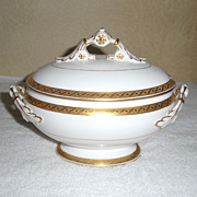 Royal Worcester White and Gold Sauce Tureen 1909